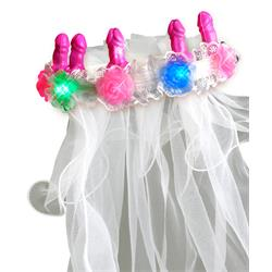 Bachelorette Party Favors Pecker Light-Up Veil