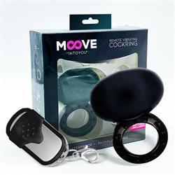 Remote Vibrating Cockring Black