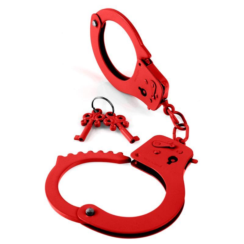 Designer Metal Handcuffs Red
