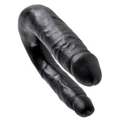 King Cock U-Shaped Small Double Trouble-Black