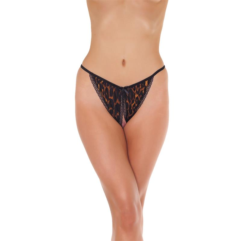 Rimba Amorable Open Brief Leopard Print One Size