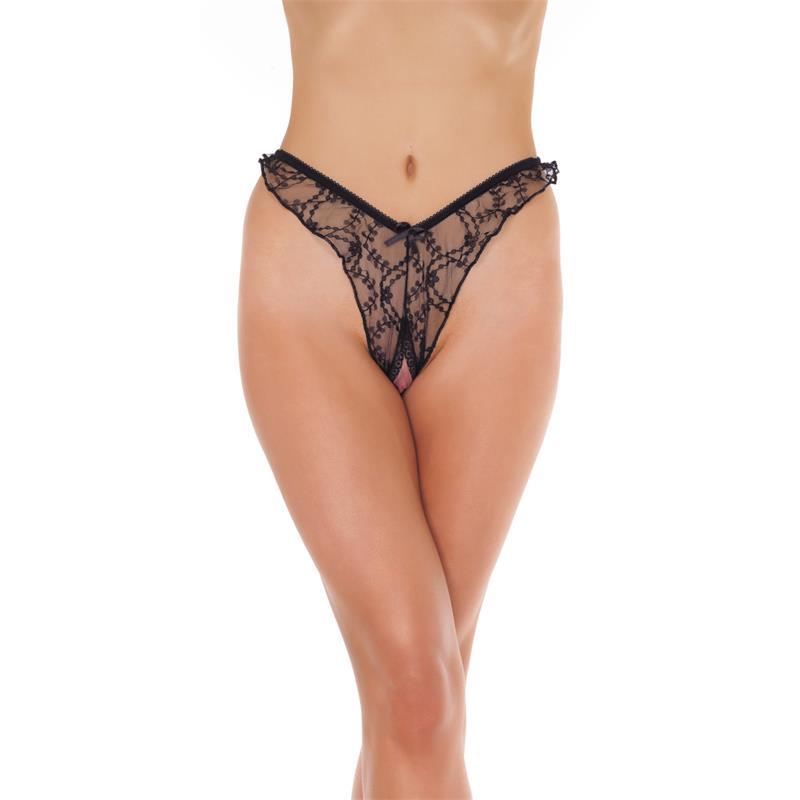 Rimba Amorable Brasilian Open Briefs Black One Size