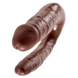 King Cock U-Shaped Small Double Trouble-Brown