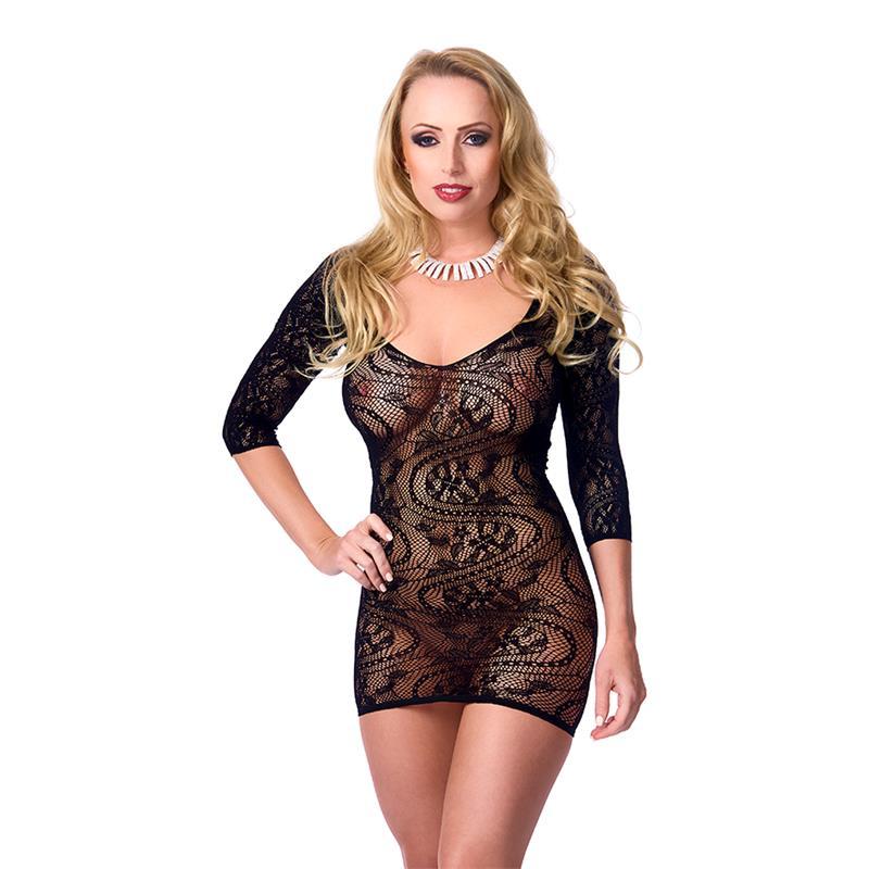 Rimba Amorable Mini Dress Semitransparent Black One Size