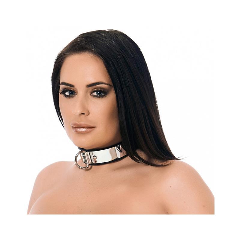 Collar with metal and padlock-Adjustable