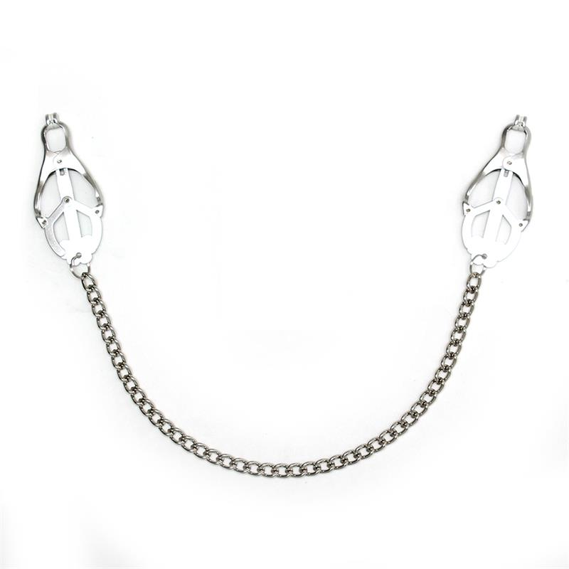 Rimba Bondage Play Nipple Clamps With Chain