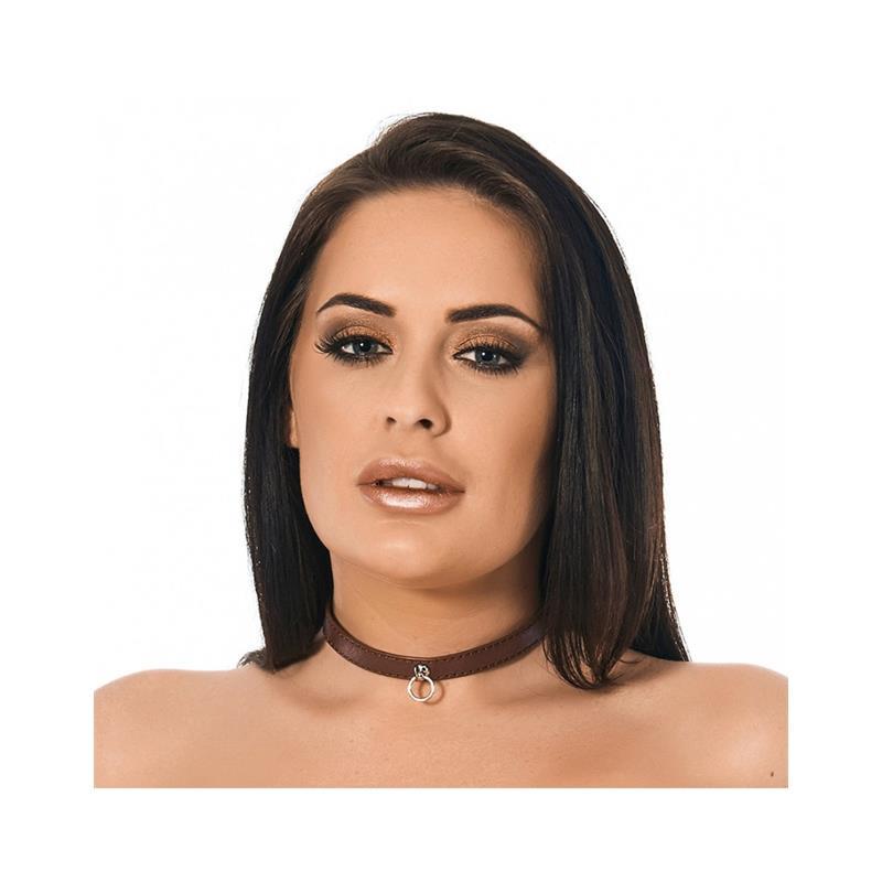 Collar Brown Leather 1,5cm