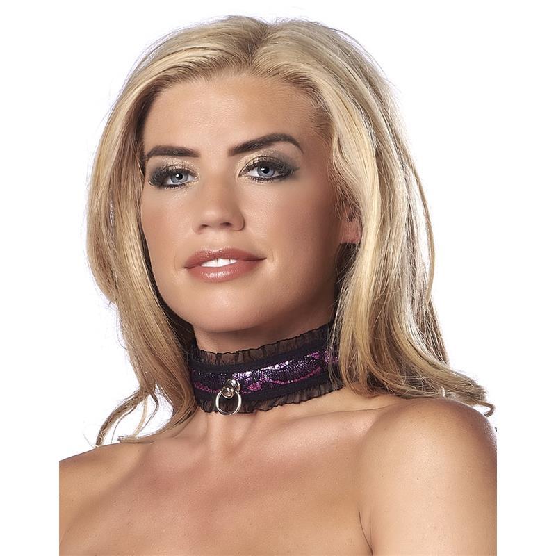 Satin Look Collar Purple