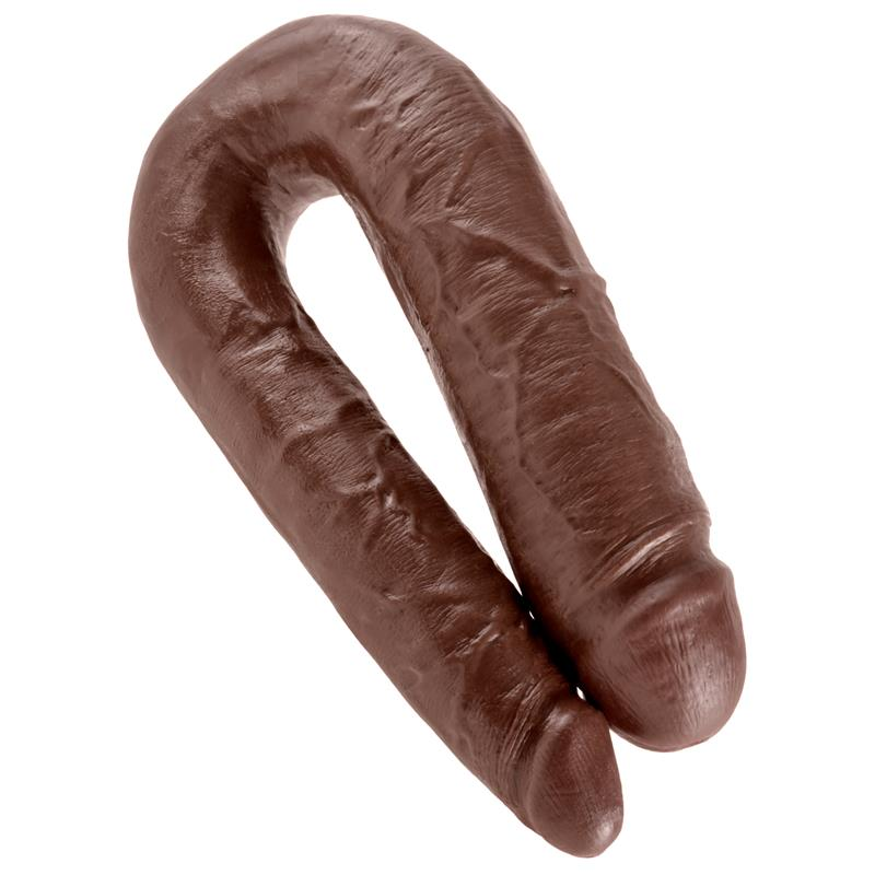 King Cock Double Penetrator Cock Large - Brown