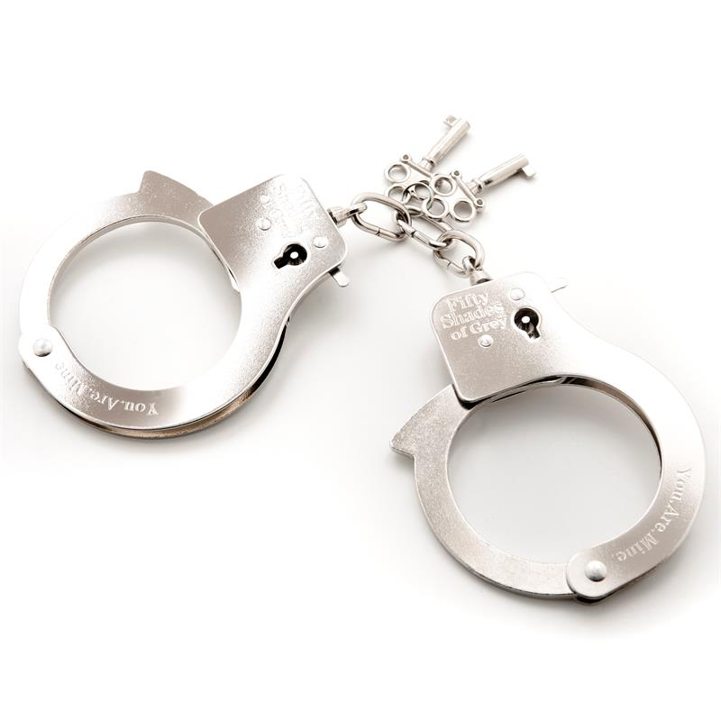 Fifty Shades of Grey You Are Mine Metal Handcuffs