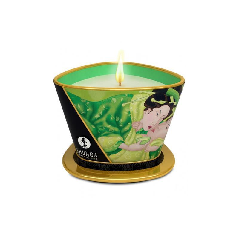 Shunga Candle Massage Green Exotic