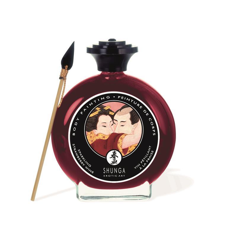 Shunga Kisable Body Paint Strawberry Wine Flavor