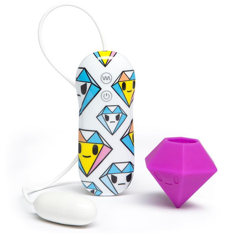 tokidoki 10 Function Silicone Purple Diamond Clitoral Vibrator