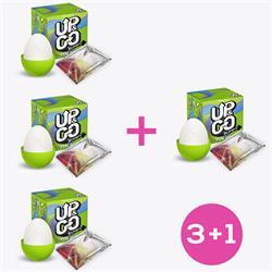 Pack 3+1 Up & Go Bumpy Fun Egg Green