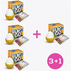 Pack 3+1 Up & Go Grovy Fun Egg Yellow