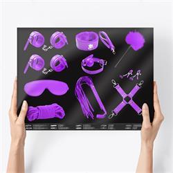 Bondage Set with 10 Pieces Purple