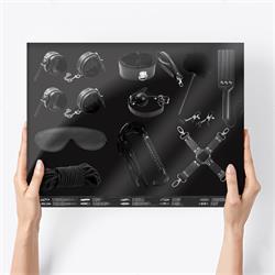 Bondage Set with 11 Pieces Black