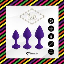 Bibi Butt Pulg Set 3 Pcs. Purple