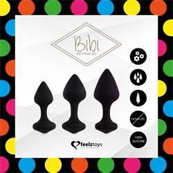 Bibi Plug Butt Set 3 Pcs. Black