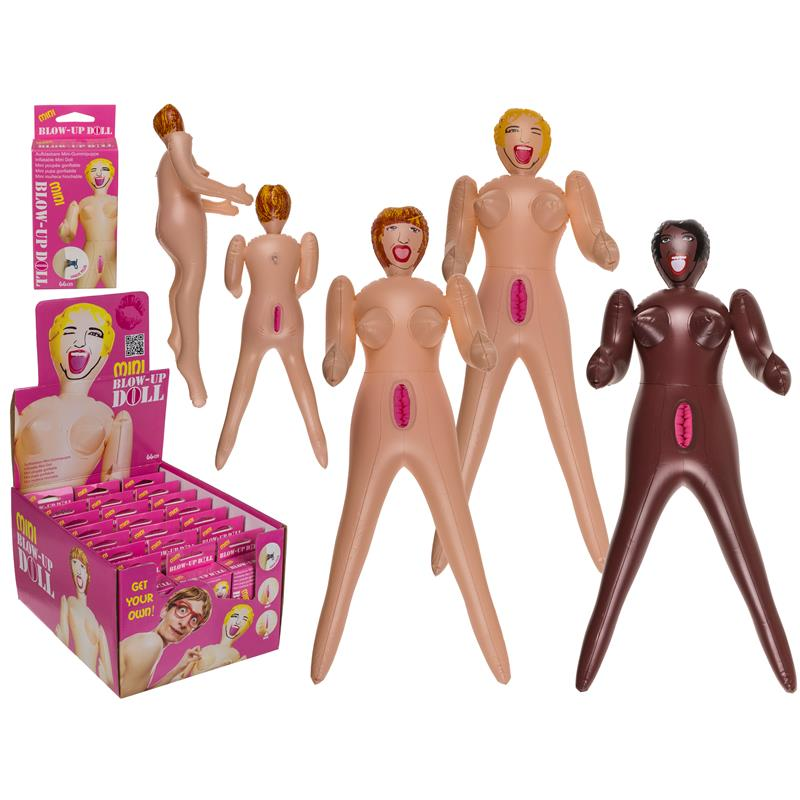 Inflatable Mini Doll 24 Units Assorted