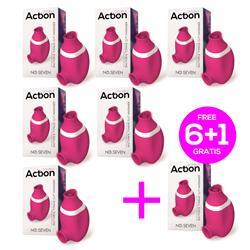 Pack 5+1 No. Seven Suction & Tongue Clit Massagerc