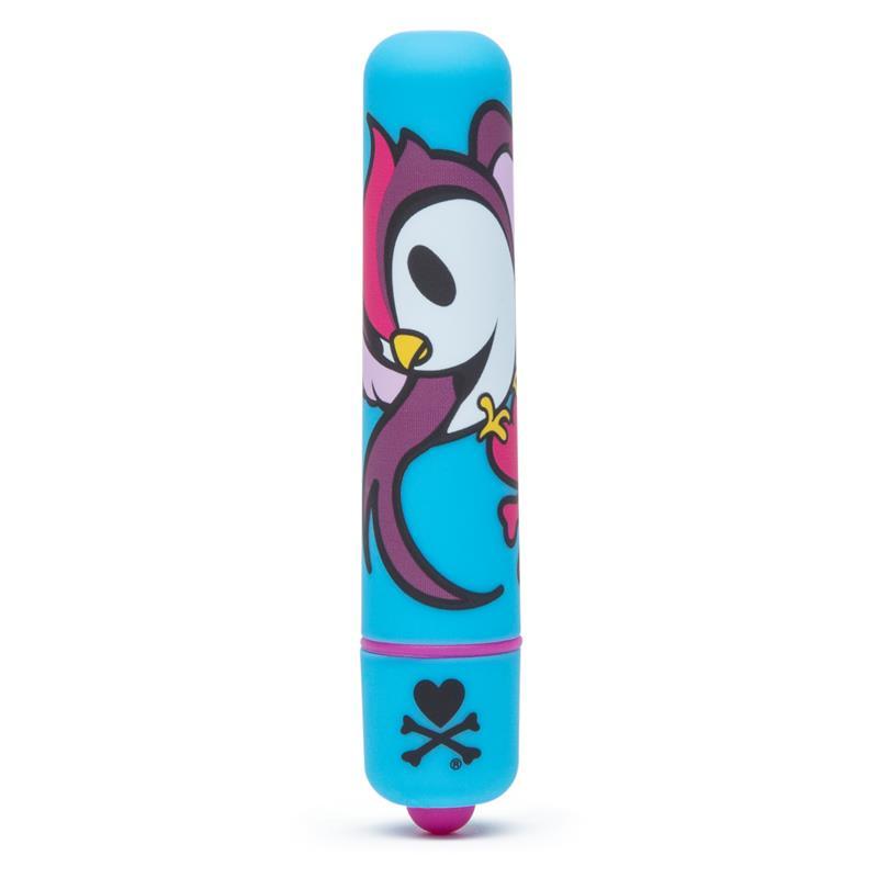 tokidoki Single Speed Mini Bullet Vibrator Blue Skull Bird