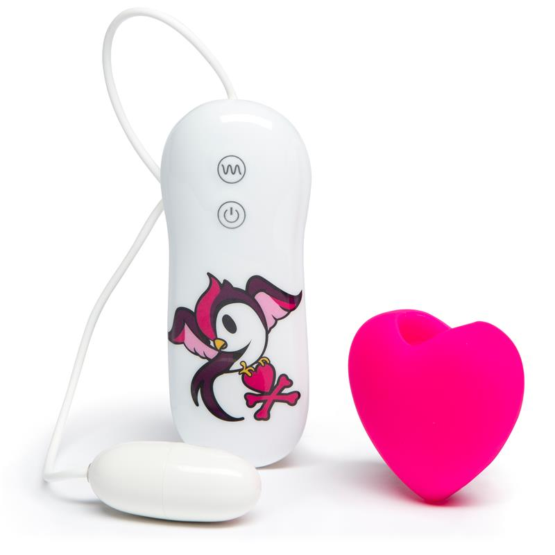 tokidoki 10 Function Silicone Pink HEart Clitoral Vibrator