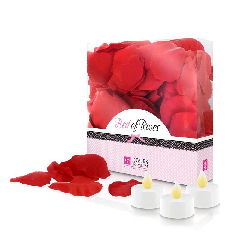 Loverspremium - Cama de Rosas Color Rojo