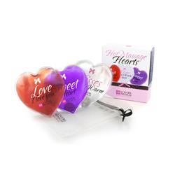 Loverspremium - hot massage hearts (3 pcs)