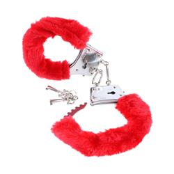 Fetish Fantasy Series Beginners Furry Cuffs-Red