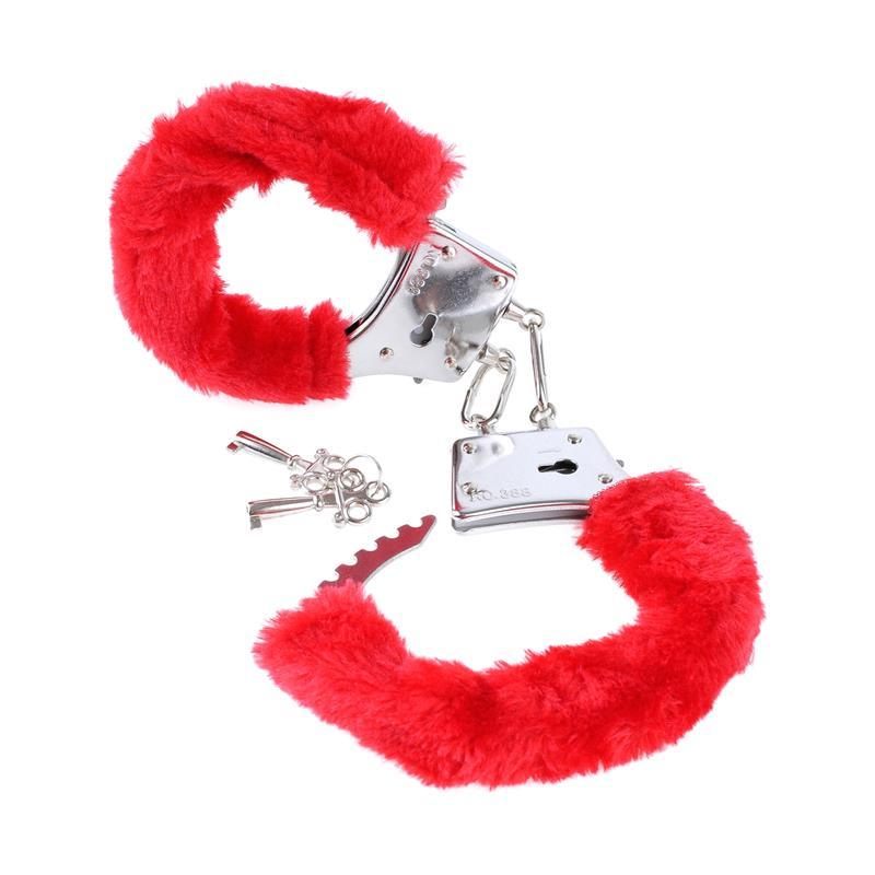Fetish Fantasy Series Beginners Furry Cuffs Red