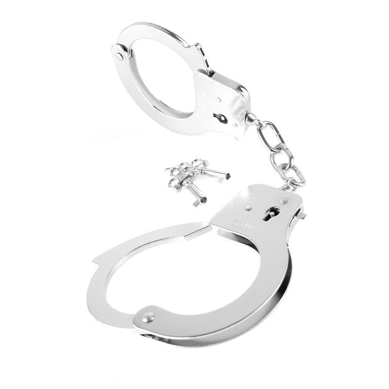 Fetish Fantasy Series Designer Metal Handcuffs Silver