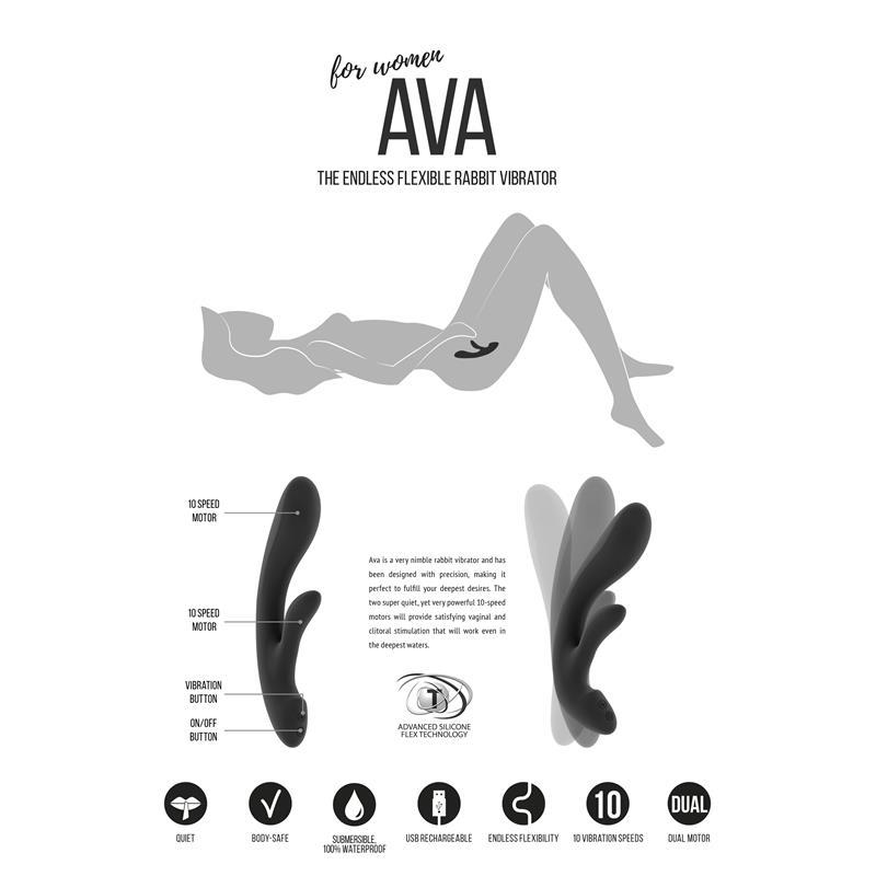 Shots Jìl Vibrador Ava Negro (4)