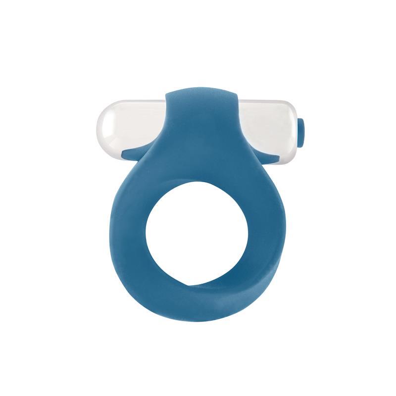 Shots Mjuze Anillo Vibrador para el Pene Azul de MJUZE #satisfactoys