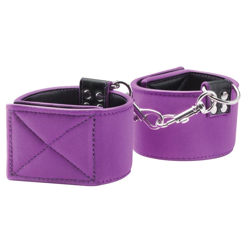 Shots Ouch! Reversible Wrist Cuffs Purple