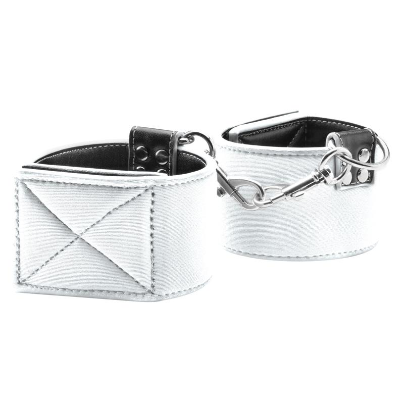 Shots Ouch! Reversible Wrist Cuffs White
