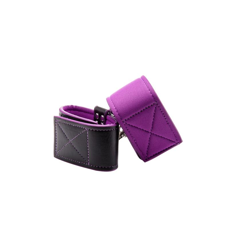 Shots Ouch! Reversible Ankle Cuffs Purple