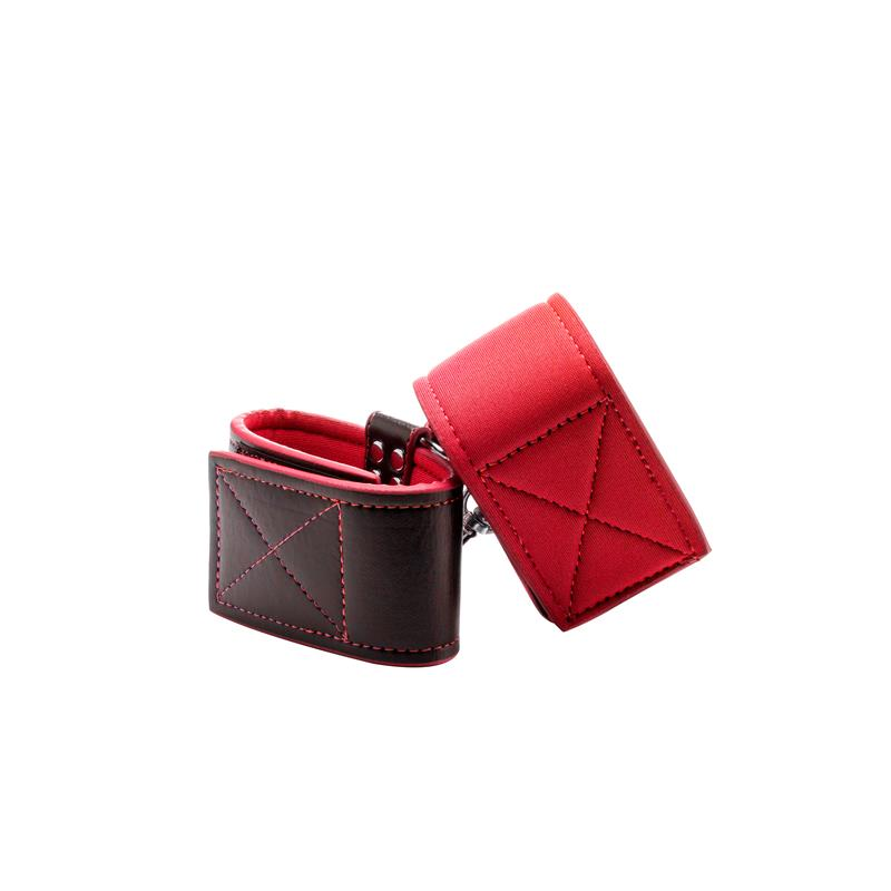 Shots Ouch! Reversible Ankle Cuffs Red