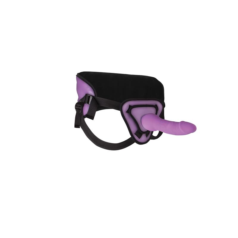 Shots Ouch! Deluxe Silicone Strap On 25,5 cm Purple
