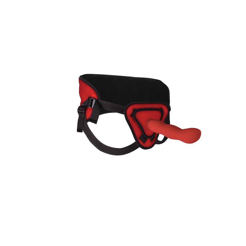 Shots Ouch! Deluxe Silicone Strap On 25,5 cm Red