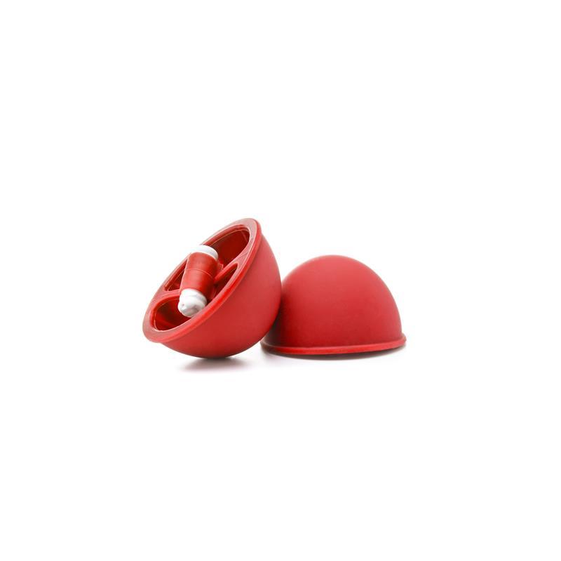 Shots Ouch! Copas de Succión Vibradoras para Pechos Color Rojo de OUCH! #satisfactoys