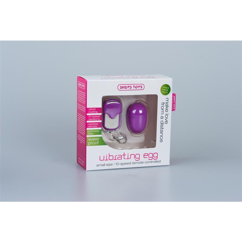 Shots Toys Huevo Vibrador 10 Velocidades Control Remoto Lila de SHOTS TOYS #satisfactoys