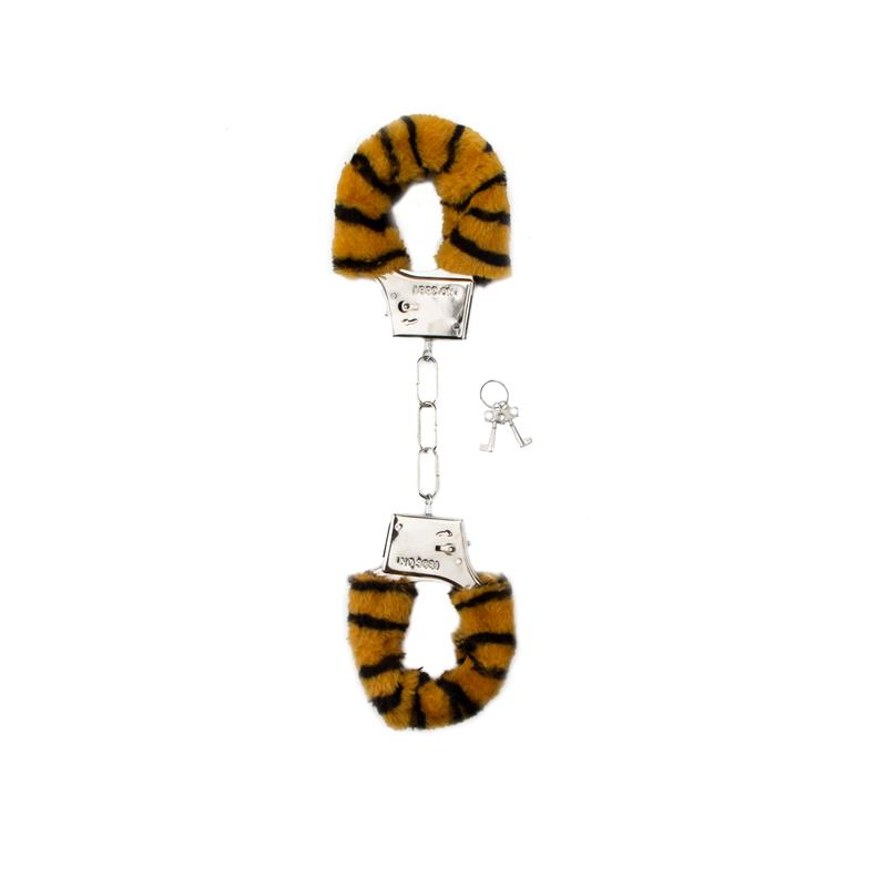 Shots Toys Furry Handcuffs Tiger