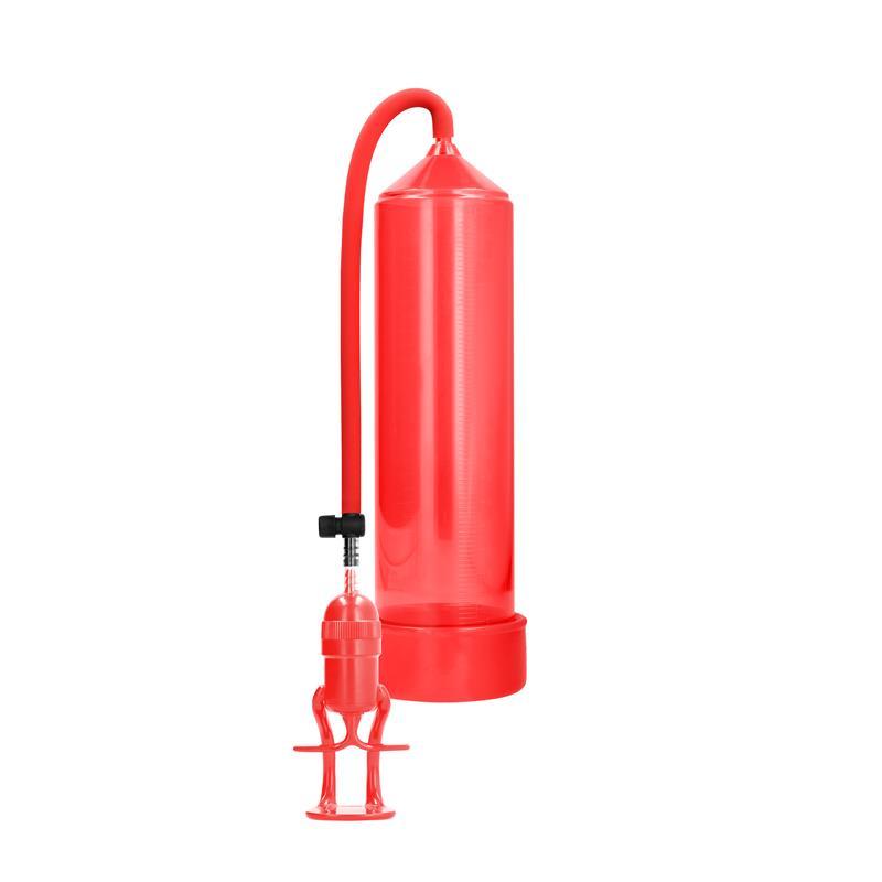 Shots Pumped Succionador de Pene para Principiantes Deluxe Color Rojo de PUMPED #satisfactoys