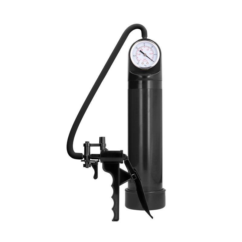 Shots Pumped Elite Pump With Advanced PSI Gauge Black