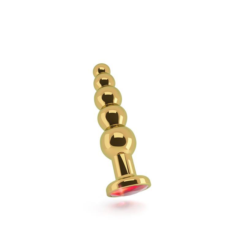 Shots Rich Butt Plug Red Sapphire 12,5 cm Gold