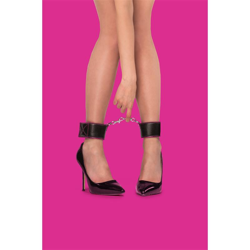 Shots Ouch! Reversible Ankle Cuffs Pink