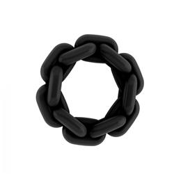 No.5 - Chain Cockring - Black