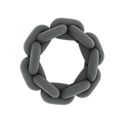 No.6 - Chain Cockring - Grey