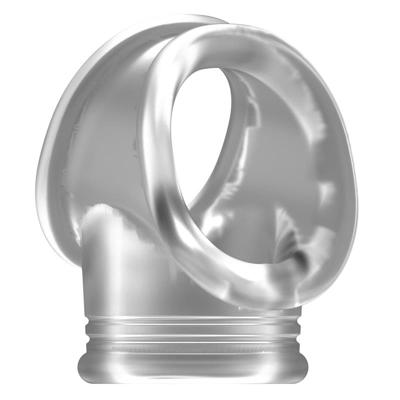 Shots Sono No.48 Cockring with Ball Strap Translucent
